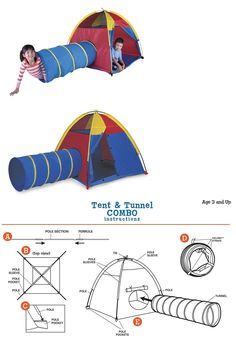 Tunnels 145998 Pacific Play Tents Kids Hide Me Tent And Tunnel Combo For Indoor And  sc 1 st  Pinterest & Tunnels 145998: 100-Pit-Ball Play Tent Popup Hexagon Mesh Kids ...