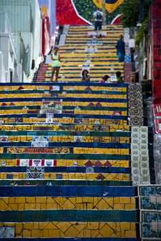 Selarón Steps, Rio de Janeiro (between Santa Teresa and Gloria)