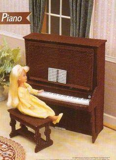 New Piano Furniture Plastic Canvas Pattern for Barbie Fashion Doll | eBay