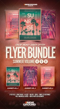 SpringSummer Flyers Templates Psd  Flyer Templates