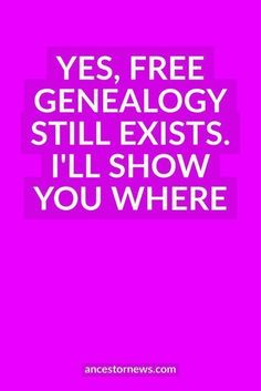 Get my list of 13 free (and favorite) genealogy sites. A great place to begin your research.