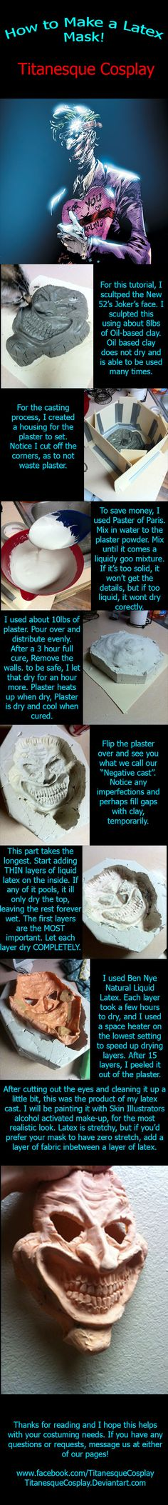 How to Make a Latex Mask by TitanesqueCosplay.deviantart.com on @deviantART
