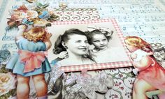 Mother and Daughter Layout, by Einat Kessler featuring Little Darlings, Product by Graphic 45.