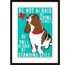 Basset Hound  Art Dog Print Wall Decor 5 x 7 by GoingPlaces2, $14.00
