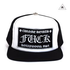 28552c1278f6c CH F CK TRUCKER CAP - BLACK WHITE Chrome Hearts
