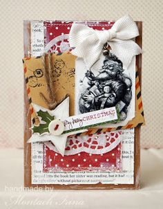 Ручные фантазии: Открытка с Сантой и визитки Gift Wrapping, Cards, Blog, Gifts, Gift Wrapping Paper, Presents, Wrapping Gifts, Gift Packaging, Map