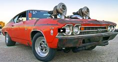 Sick Twin Turbo Chevy Chevelle at Drag Week 2016
