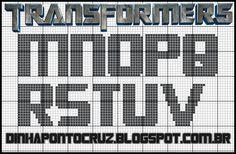 monograma Transformers  by Dinha ponto cruz
