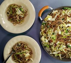 Spaghetti with Bacon and Cabbage