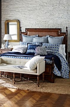 Sleep by the sea even if you're landlocked, with our Saybrook Bedding Collection. | Frontgate Interiors