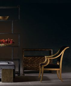 Bernhardt Interiors | Lisette Arm Chair, Contessa Bachelor's Chest, Fowler Etagere