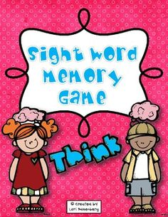 This sight word memory game will give your students plenty of practice learning those all important sight words. Included are kindergarten, first grade, and second grade Dolch words, plus, words frequently used in writing. A recording sheet is also included, where the children can write some of the matches they made and choose four of the words to write in sentences. The best part is, you can save money on colored ink by printing the game on colored paper. No colored ink is needed!