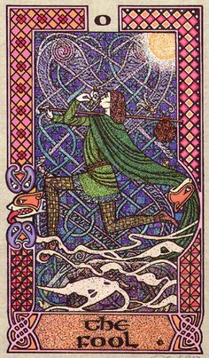O. The Fool  - Celtic Tarot by Courtney Davis & Helena Paterson