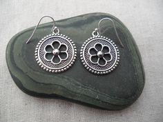 Silver Flower Earrings - Boho chic -  Moroccan - Simple Everyday Silver Earrings by TigerFlowerJewelry on Etsy https://www.etsy.com/uk/listing/118714076/silver-flower-earrings-boho-chic