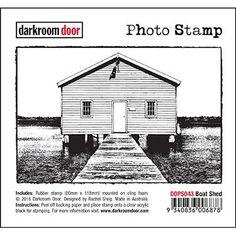 Darkroom Door - Boat Shed - Rubber Cling Photo Stamp