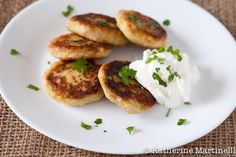 Leek, Potato, and Feta Pancakes (naturally gluten free, could be amazing with a fried egg on top)