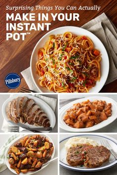 It's no secret: The Instant Pot® has taken over our kitchens (and our hearts! It's convenient, easy to use and does the majority of the work for you—what could be better? Spicy Thai Noodles, Pillsbury Recipes, Loaf Pan, Dutch Oven, Easy Dinners, Dinner Tonight, Food Hacks, Crock Pot, Instant Pot