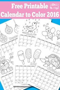 free printable calendar for kids - Free Printable Kids