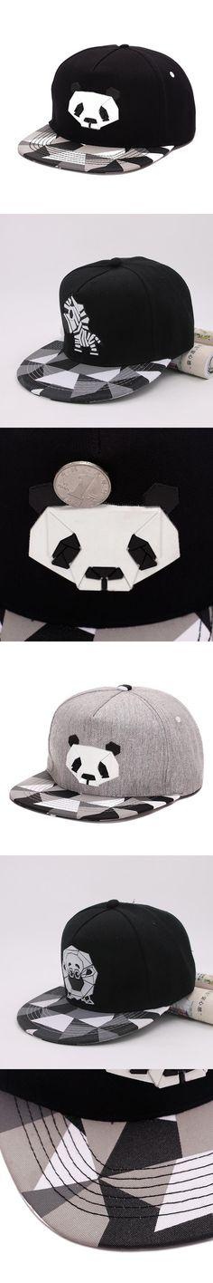 Lovers Baseball Cap Hip-hop Dad Bones Drake Hat Male Ms. Cute Panda Hiphop snap back Zebra Rubber Hat Snapback Flat-brimmed Hat
