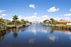 Cape Coral, Florida is a relaxed town just north of Fort Myers along the Caloosahatchee River and the Gulf of Mexico. Cape Coral was named one of the top 25 places to retire by Fortune in 2012. One of the most unusual things about Cape Coral is its access to the water, since it is surrounded by it on two sides. It has more than 400 miles of canals; many homes have boats tied up behind them.