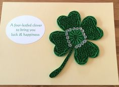 Quilled four-leafed clover