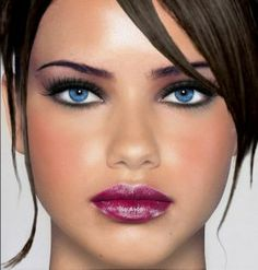 make up dark hair blue eyes Pretty Makeup, Love Makeup, Makeup Tips, Makeup Looks, Hair Makeup, Makeup Style, Makeup Lipstick, Makeup Art, Makeup Ideas