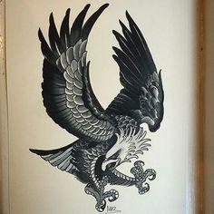 #flash #tattoo #inspiration #eagle #classic #dotwork @pepevillaverde