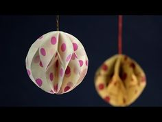Christmas Paper Crafts:How to Make Paper Ball for DIY Party Decorations - YouTube