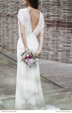 Gorgeous back to this dress by Zoro | Photograph by Corina De Stefani, The Wedding Day| Styled Shoot