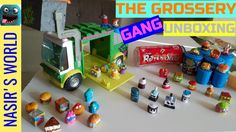 Watch as things get messy when Nasir does a Grossery Gang Series 3 and series 2 unboxing / TOY review of his new festering friends the Grossery Gang. These filthy good guys prepare to defend themselves against the Clean Team. This unboxing includes the Grossery Gang putrid power series 3 surprise pack, series 2 Rotten Soda blind pack, and series 2 Yuck bar surprise pack - blind pack