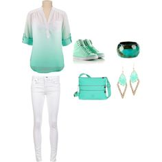 mint outfit on Polyvore