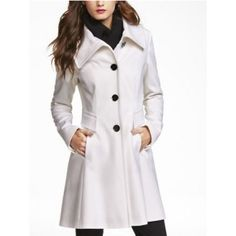 Express Peacoat Fit and flare Peacoat from Express. Color is cream. Great condition, no noticeable wear. Size XS but also fits Small well. Let me know if you have any questions! Express Jackets & Coats Pea Coats