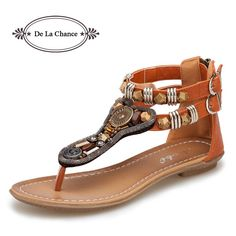 New Women s Gladiator Roman Indian Ethnic Style Leather Flats Sandals Shoes  Gladiator Sandals Women Sexy Stud Women Flat Shoes 6bb8abaa4518