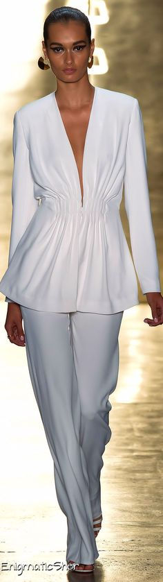 I would wear a pastel tank under.... Cushnie et Ochs Spring Summer 2015 Ready-To-Wear