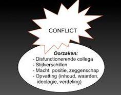 Probleemoplossend vermogen... Belangrijke  competentie. Wat kunnen redenen van conflicten zijn