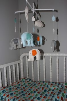 Elephant Mobile - mum should be able to make something like this?