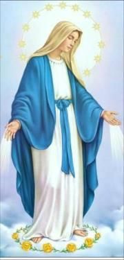 wizerunek Matki Boskiej, która w Apokalipsie św. Jana przedstawiona jest na…
