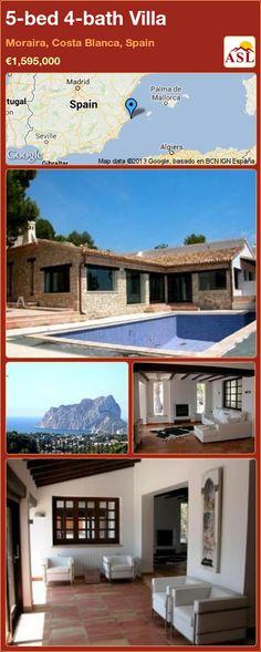 5-bed 4-bath Villa in Moraira, Costa Blanca, Spain ►€1,595,000 #PropertyForSaleInSpain