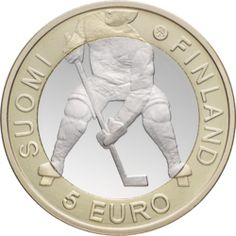 5 euro coin from Finland celebrating 2012 Ice Hockey World Championships hosted by Finland and Sweden Hockey World, Euro Coins, Foreign Coins, Coin Design, Ice Ice Baby, World Coins, My Heritage, Coin Collecting, World Championship