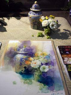 Мобильный LiveInternet Цветочная акварель... Художница Yuko Nagayama. | Akmaya - Записки Akmaya |