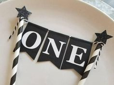 ONE Bunting Cake Topper... Wild One... Baby Boy... First