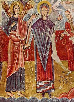 Detalle de las pinturas originarias de San Pedro de Sorpe