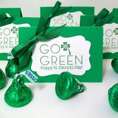 St. Patrick's Day - decorate with leftover green hershey kisses from Christmas :) Red for Valentine's Day, Green for St. Patrick's