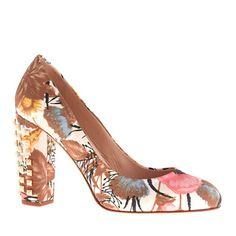J.Crew - Etta studded-heel pumps