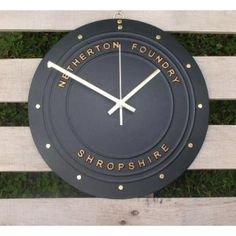 Traditional design but with an elegant feel to it, this is a cast iron clock - perfect for a country style kitchen. Available in 6 colours  Made in the UK  http://www.madecloser.co.uk/home-garden/homeware-and-furniture/the-coalbrookdale