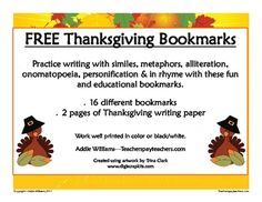 FREE Thanksgiving Bookmarks repinned by @PediaStaff – Please visit ht.ly/63sNt for all (hundreds of) our pediatric therapy pins