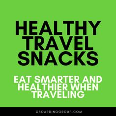 """Fight the """"travel bulge"""" by eating healthier on the road with this list of Healthy Travel Snacks. Travel smarter and healthier on your next trip! Road Trip Food, Healthy Travel Snacks, Nut Allergies, Eat Smart, Foods To Eat, Cravings, Healthy Eating, Eating Healthy, Healthy Diet Foods"""