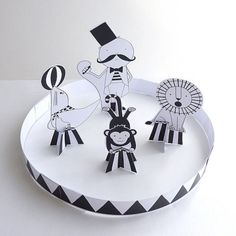 Lovely Pigeon's Cut-Make-Play Circus