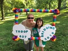 Bridging frame made from Pool noodles Scout Mom, Girl Scout Swap, Girl Scout Leader, Daisy Girl Scouts, Girl Scout Troop, Cub Scouts, Girl Scout Daisy Activities, Girl Scout Songs, Girl Scout Crafts