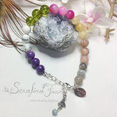 Tranquility Stress Crystal Healing Beaded Bracelet by SerafinaFaeJewelry